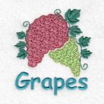 machine embroidery designs grapes