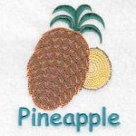 machine embroidery designs pineapple