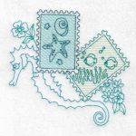 machine embroidery design fish seahorse
