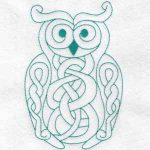 machine embroidery design owl