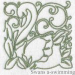machine embroidery designs swan