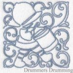 machine embroidery designs drummer