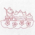 machine embroidery designs cupcake