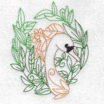 machine embroidery design swan