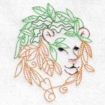 machine embroidery design lion cub