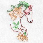 machine embroidery design horse