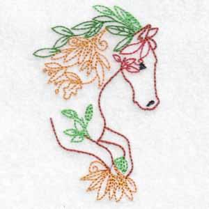 machine embroidery design horse
