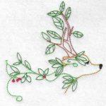 machine embroidery design deer