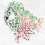 machine embroidery design wolf