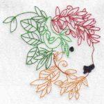 machine embroidery design bison
