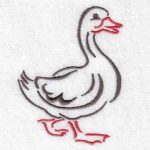 machine embroidery designs duck