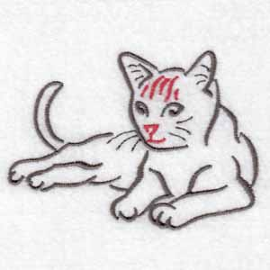 machine embroidery designs cat