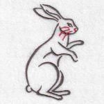 machine embroidery designs rabbit bunny