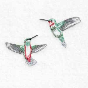 machine embroidery designs tiny hummingbirds
