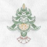 Christmas tree machine embroidery design