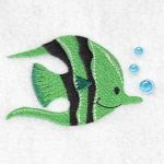 machine embroidery design fish
