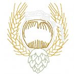 machine embroidery design craft beer