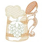 machine embroidery design craft beer