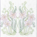 Redwork Florals Machine embroidery designs
