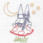 machine embroidery designs garden gnome