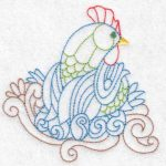 hen machine embroidery design