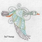 goose machine embroidery design