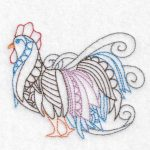 rooster machine embroidery design