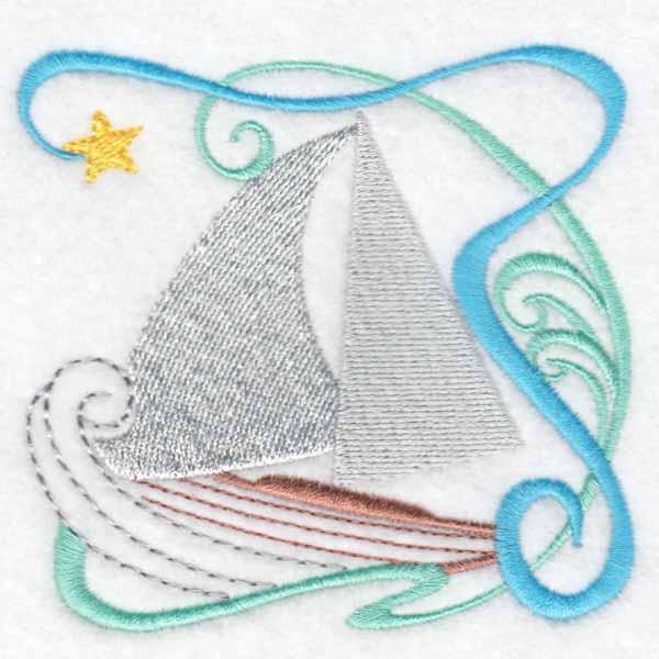 machine embroidery designs sail boat