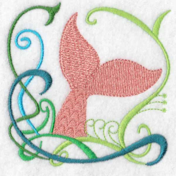 machine embroidery designs whale mermaid