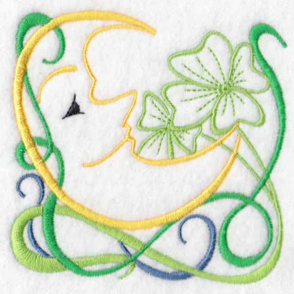 machine embroidery designs moon