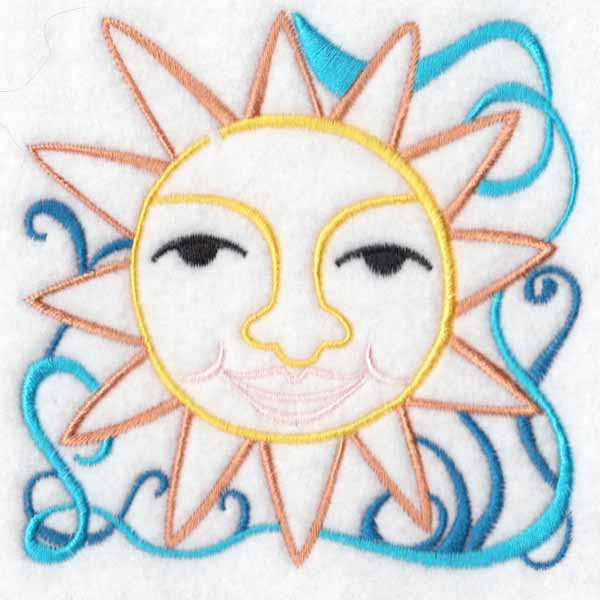 machine embroidery designs sun