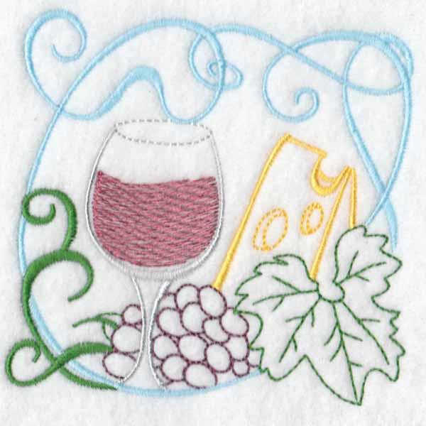 machine embroidery designs wine