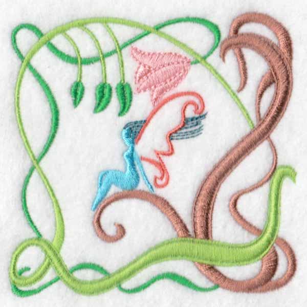 machine embroidery designs garden fairy