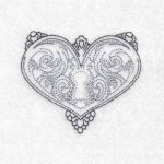 machine embroidery design heart