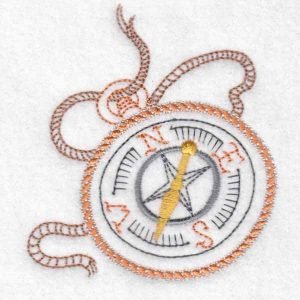 machine embroidery design compass