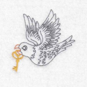 machine embroidery design dove