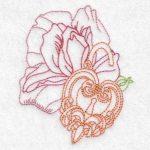 machine embroidery design heart watch