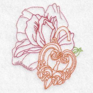 machine embroidery design heart watch