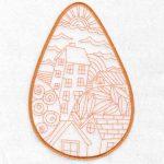 Folk Art Houses machine embroidery designs