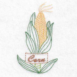 machine embroidery design corn