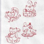 machine embroidery design kitty