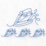 machine embroidery design iron