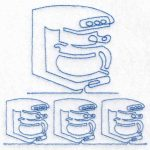 machine embroidery design coffee