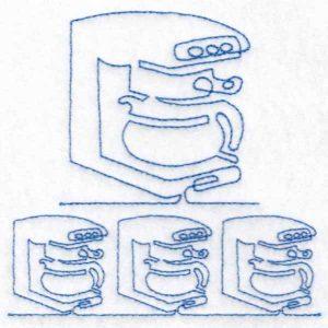 machine embroidery design coffee