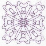 symmetry machine embroidery design