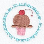 cupcake machine embroidery design