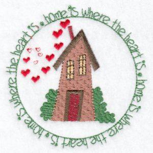 Home Heart Machine embroidery design
