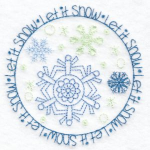 winter machine embroidery design