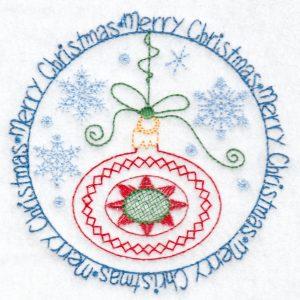 christmas machine embroidery design