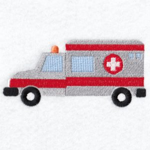 Ambulance Machine embroidery designs